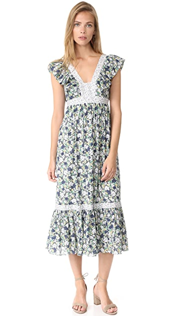 La Vie Rebecca Taylor Sleeveless Fleur Suzette Dress