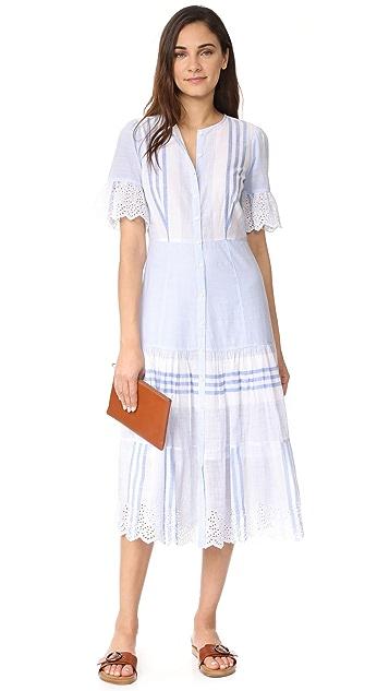 La Vie Rebecca Taylor Платье в полоску с короткими рукавами
