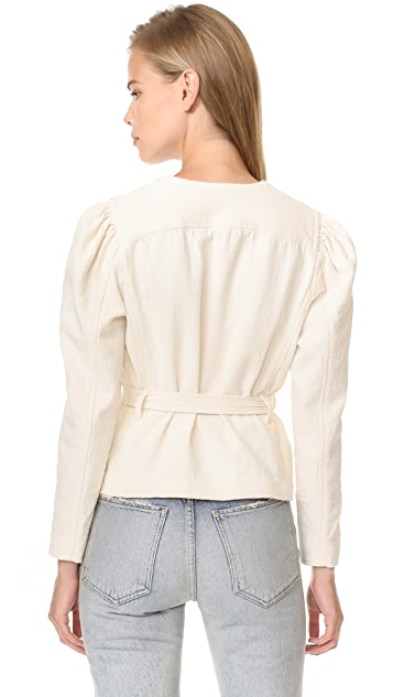 La Vie Rebecca Taylor Double Weave Cotton Jacket