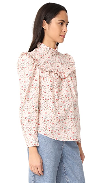 La Vie Rebecca Taylor Long Sleeve Brittany Top