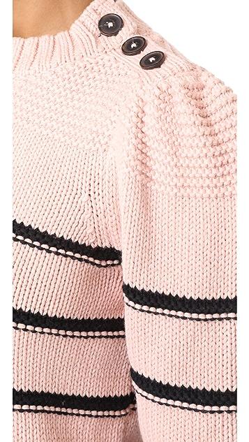 La Vie Rebecca Taylor Cotton Merino Pullover