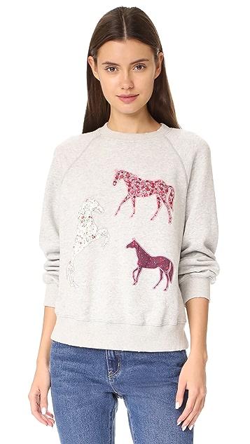 La Vie Rebecca Taylor Applique Sweatshirt