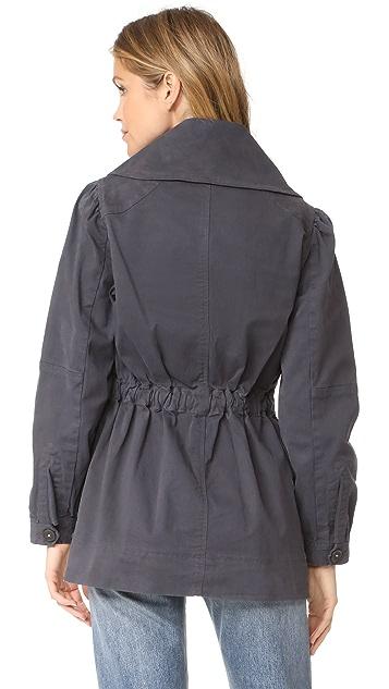 La Vie Rebecca Taylor Stretch Twill Coat