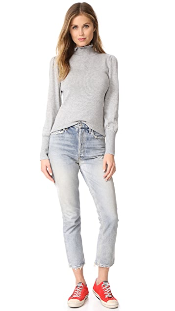 La Vie Rebecca Taylor Cozy Cotton Turtleneck Pullover