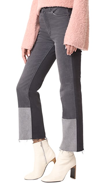 La Vie Rebecca Taylor Patch Denim Pants