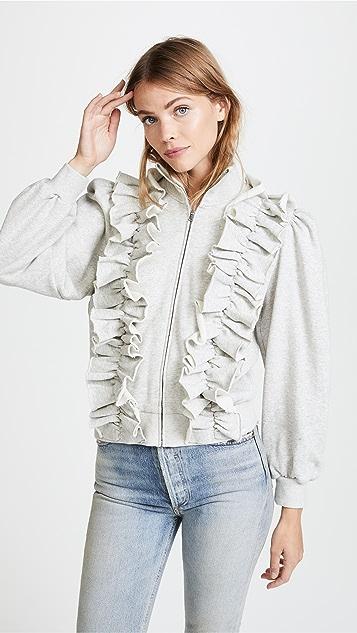 La Vie Rebecca Taylor Fleece Ruffle Jacket