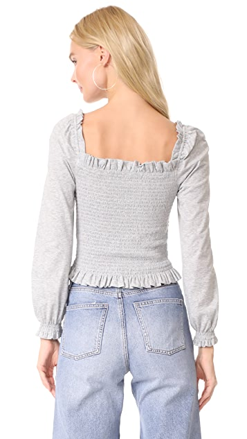 La Vie Rebecca Taylor Smocked Crop Top