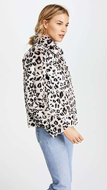 La Vie Rebecca Taylor Faux Fur Jacket