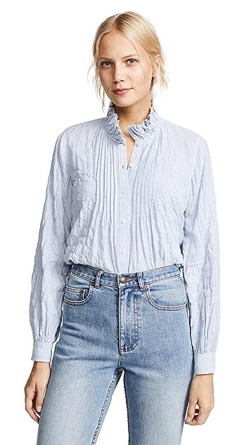 La Vie Rebecca Taylor Long Sleeve Soft Stripe Top