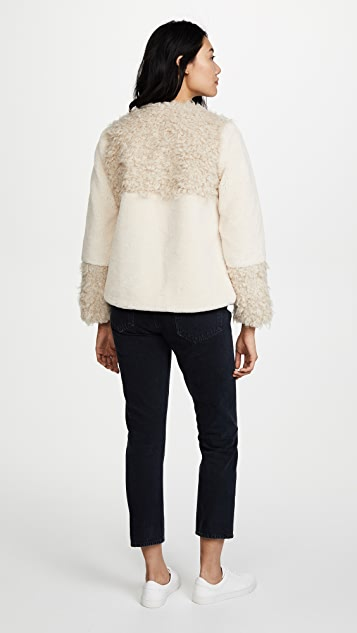 La Vie Rebecca Taylor Faux Fur Coat