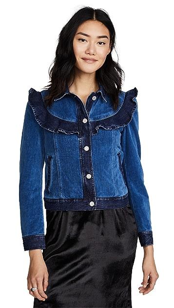 La Vie Rebecca Taylor La Vie Velvet & Denim Jacket