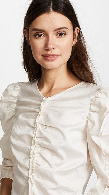 La Vie Rebecca Taylor Long Sleeve Sateen Top