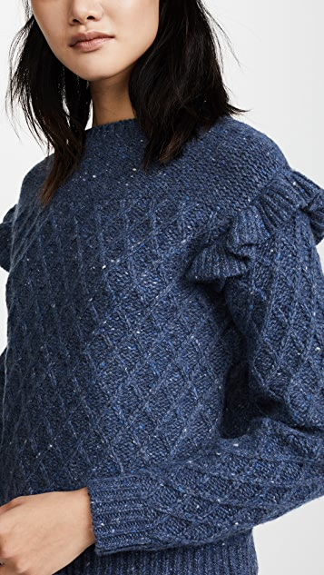 La Vie Rebecca Taylor Lattice Stitch Pullover
