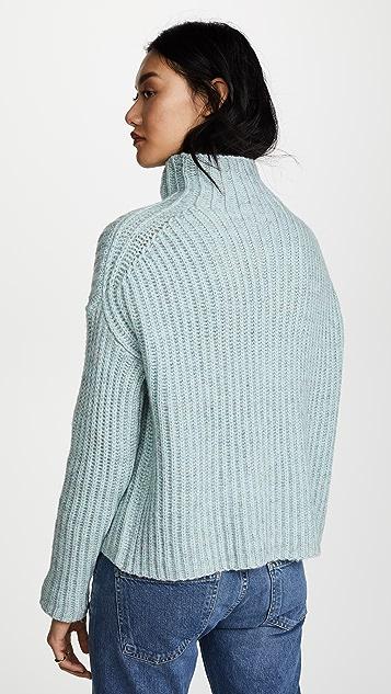 La Vie Rebecca Taylor Ribbed Turtleneck Pullover
