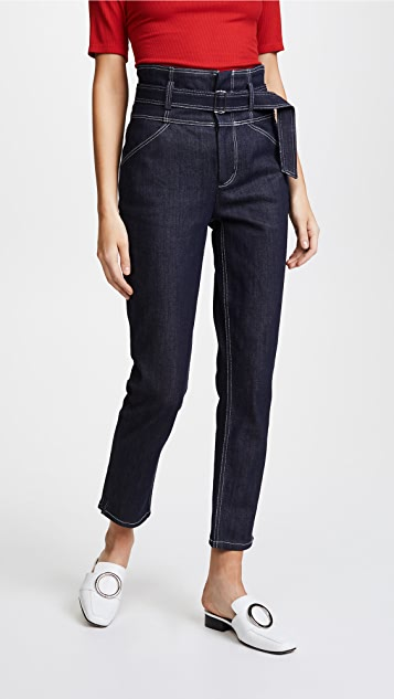 La Vie Rebecca Taylor Belted Jeans