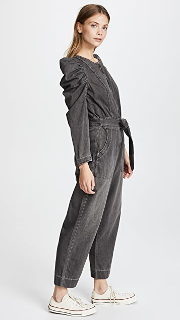 La Vie Rebecca Taylor Long Sleeve Denim Jumpsuit
