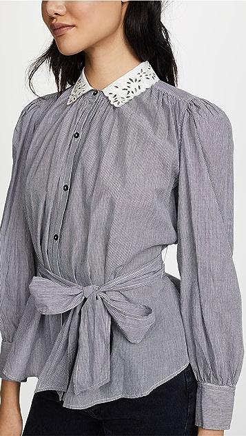 La Vie Rebecca Taylor Stripe Bow Top