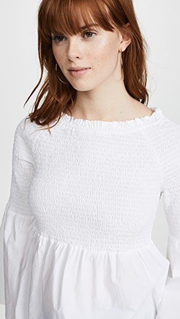 La Vie Rebecca Taylor Long Sleeve Pop Top