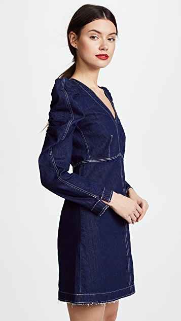 La Vie Rebecca Taylor Long Sleeve V Neck Dress