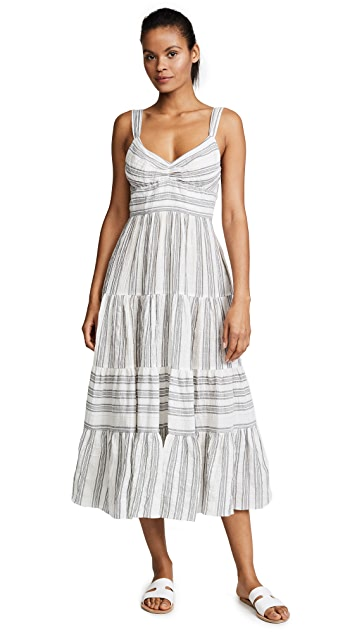 La Vie Rebecca Taylor Gauze Stripe Dress