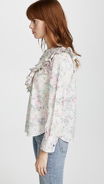 La Vie Rebecca Taylor LS Rose Garden Top