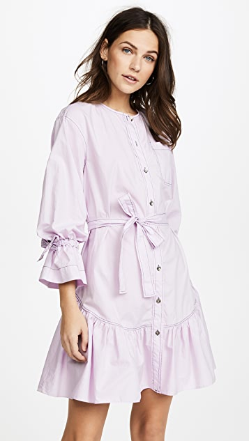 La Vie Rebecca Taylor Long Sleeve Poplin Dress