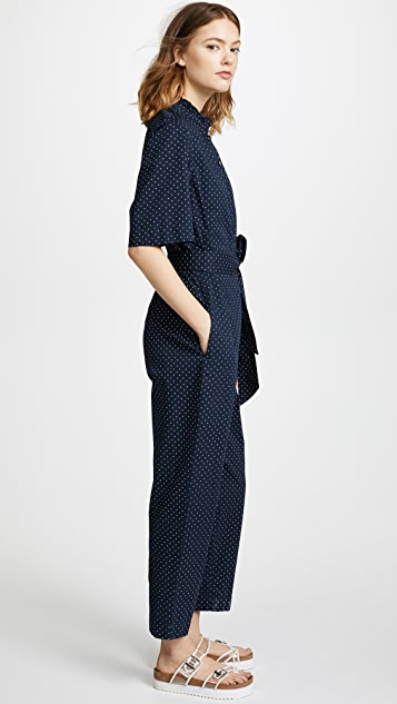 La Vie Rebecca Taylor Short Sleeve Dahlia Dot Jumpsuit