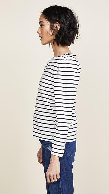 La Vie Rebecca Taylor Yarn Dyed Striped Jersey Top