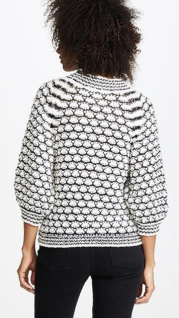 La Vie Rebecca Taylor Lace Stitch Pullover