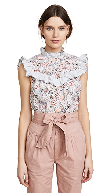 La Vie Rebecca Taylor Sleeveless Lotus Top