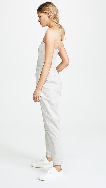 La Vie Rebecca Taylor Crisp Stripe Jumpsuit