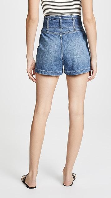 La Vie Rebecca Taylor Denim Tie Shorts