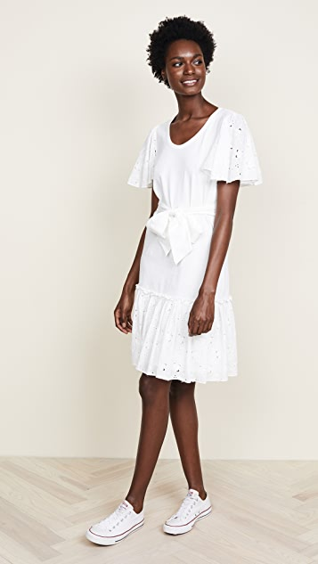 La Vie Rebecca Taylor Tiered Jersey Dress