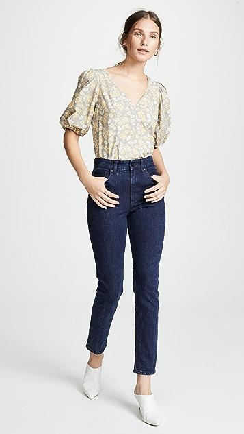 La Vie Rebecca Taylor Ines Acid Wash Jeans