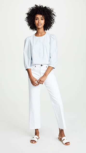 La Vie Rebecca Taylor Poplin Button Up Top