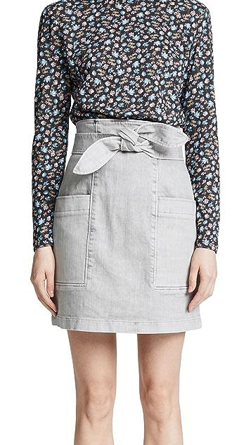 La Vie Rebecca Taylor Denim Knot Skirt