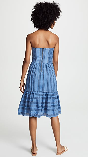 La Vie Rebecca Taylor Gauzy Stripe Dress