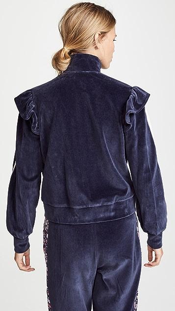 La Vie Rebecca Taylor Velour Jacket