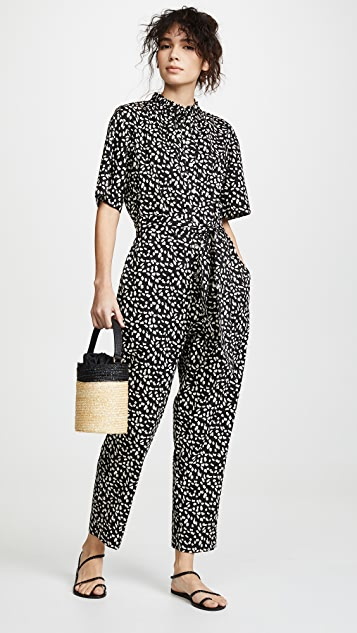 La Vie Rebecca Taylor Short Sleeve Le Jaguar Jumpsuit