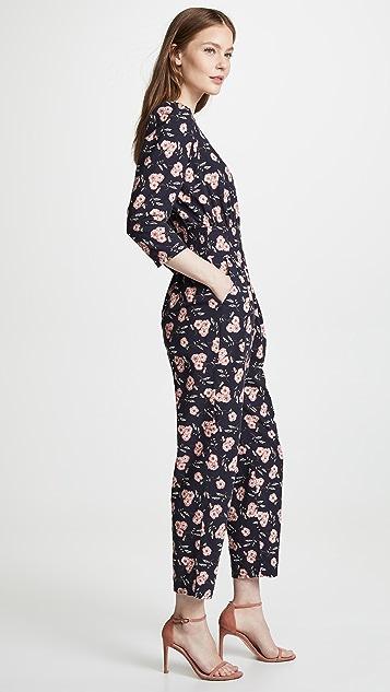 La Vie Rebecca Taylor Long Sleeve Adelle Floral Jumpsuit