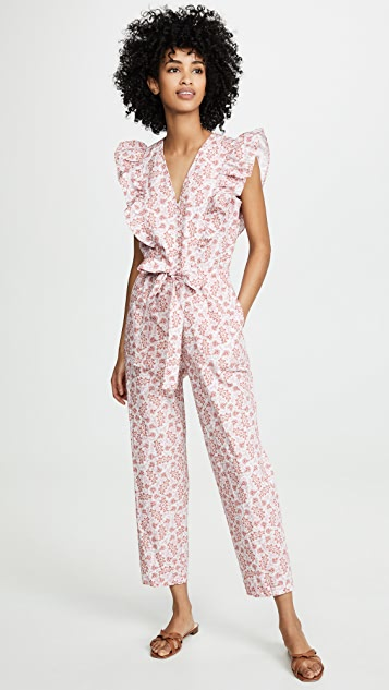 La Vie Rebecca Taylor Sleeveless Wave Paisley Jumpsuit