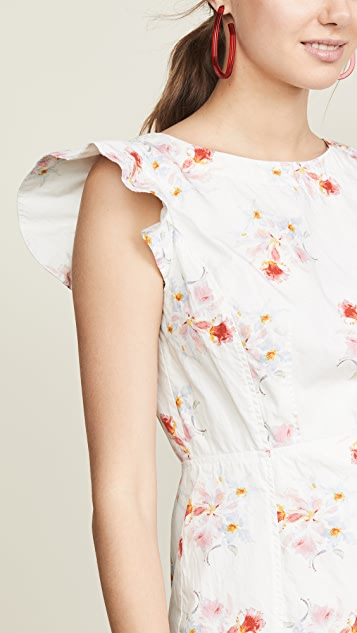 La Vie Rebecca Taylor Sleeveless Catrine Ruched Dress