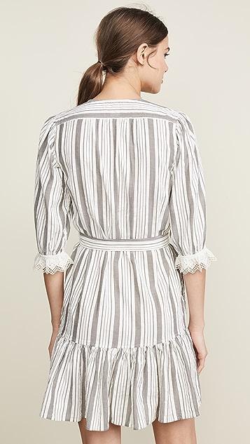 La Vie Rebecca Taylor Платье в полоску с длинными рукавами
