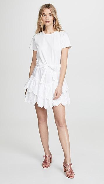 La Vie Rebecca Taylor Embroidered Jersey Dress
