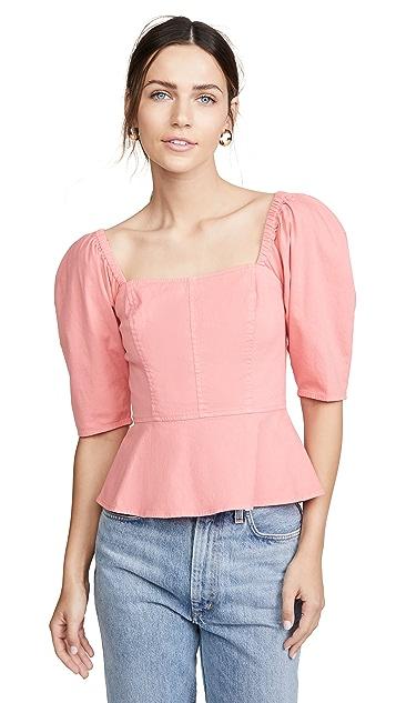 La Vie Rebecca Taylor Short Sleeve Cotton Top