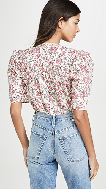 La Vie Rebecca Taylor Short Sleeve Falaise Top
