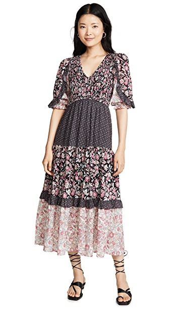 La Vie Rebecca Taylor Long Sleeve Print Dress