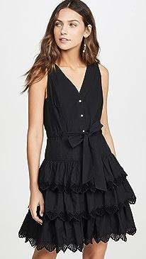 Sleeveless Shell Embroidered Dress