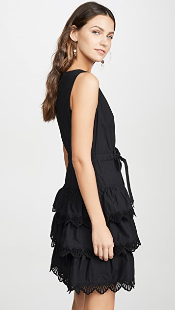 La Vie Rebecca Taylor Sleeveless Shell Embroidered Dress
