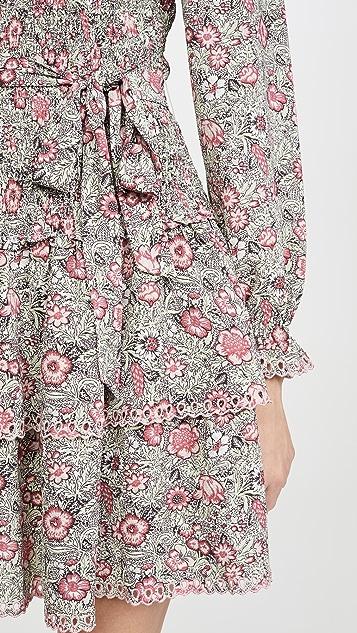 La Vie Rebecca Taylor Camilla 花卉印花长袖连衣裙